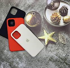 Чехол с микрофиброй для iPhone 11 Pro оригинальный Silicone Case противоударный цветной