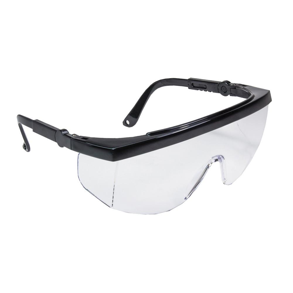 Очки открытые GAMMA, прозрачные линзы,поликарбонат,покрытие от царапин,боков.защита