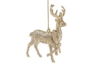 Игрушка на елку Олень, 13*10,5см, цвет - золото BonaDi 788-301 Елочные игрушки олени