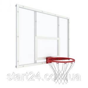 Баскетбольний щит тренувальний 1200х900 мм (оргскло 8 мм) в комплекті кільце з сіткою