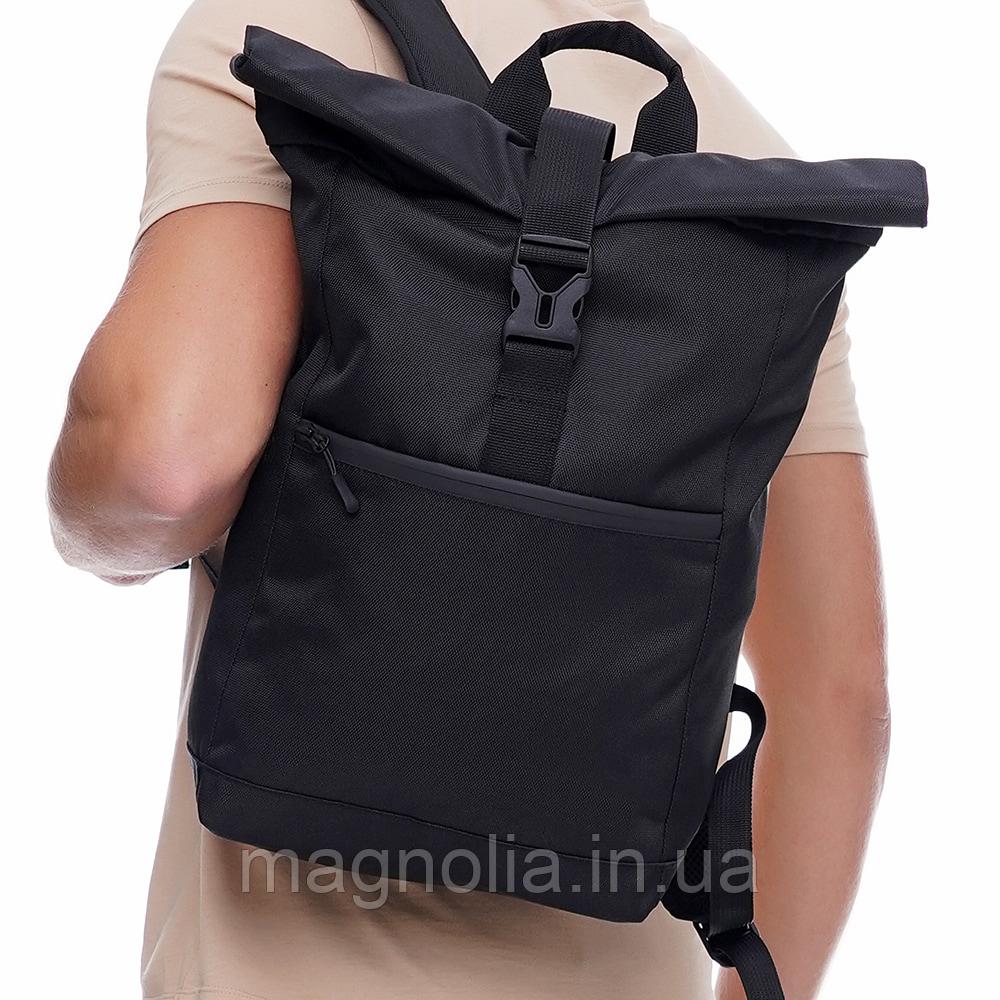 Рюкзак Roll Top / Рюкзак чоловічий - жіночий / Рюкзак для Ноутбука / Рюкзак мужской черный / рюкзак городской