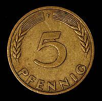Монета Германии 5 пфеннигов 1949 г., фото 1