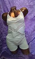 Женский комплект.Турция,отличного качества.93%cotton.цвет белый с кружевом.р:M.L