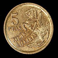 Монета Испании 5 песет 1997 г. Балеарские острова, фото 1