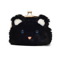 Чорна сумка-клатч Мишеня