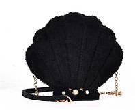 Чорна сумочка Мушля