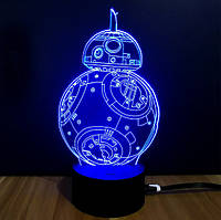 """Нічник 3D """"Дроїд BB-8"""""""