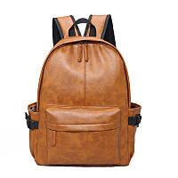 Коричневий великий рюкзак міський, фото 1