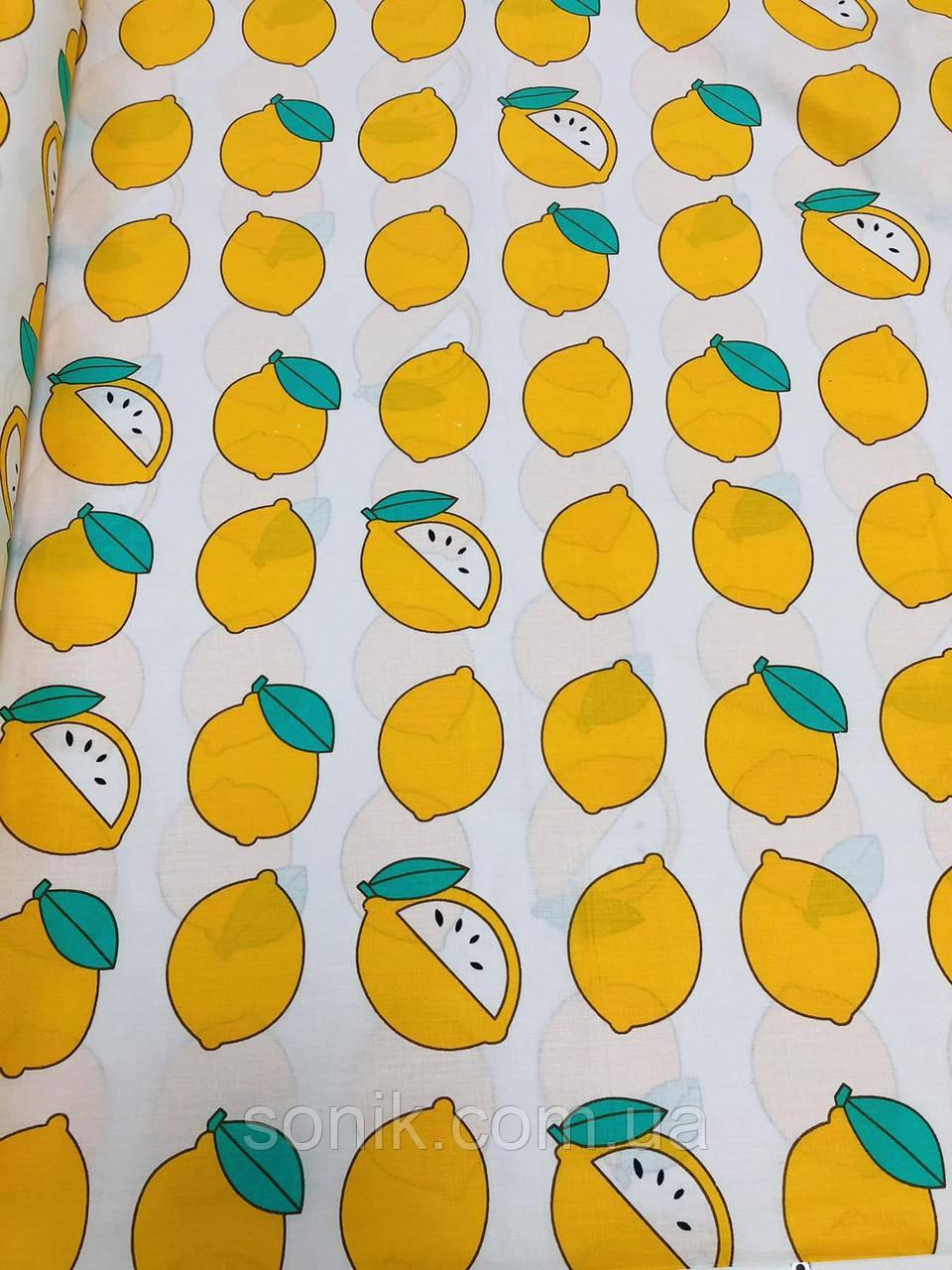 Ткань Бязь Gold Лимоны 220 см