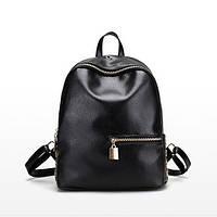 Чорний жіночий рюкзак, фото 1