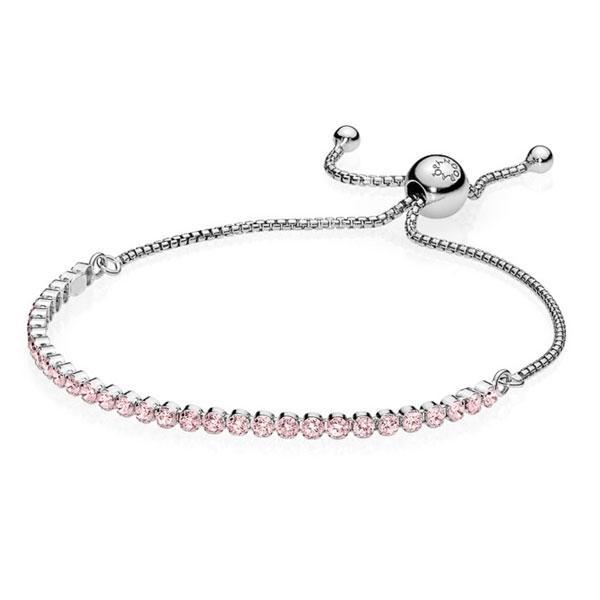 Пандора Браслет розовая сияющая нить (25 см) Pandora 590524PCZ