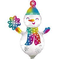 Фольгированный шар мини-фигура Снеговик