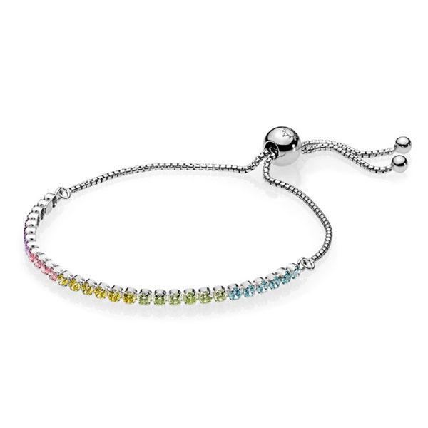 Пандора Браслет разноцветная сияющая нить (25 см) Pandora 590524PCZMX