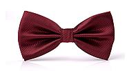Краватка-метелик бордовий
