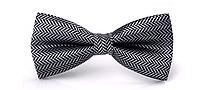 Краватка-метелик чорний в смужку