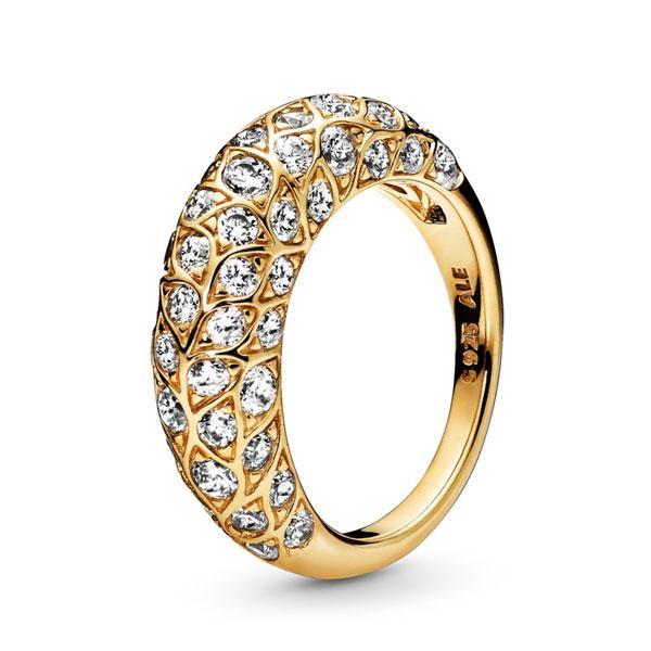 Пандора Кольцо Соблазн Shine Позолота (52) Pandora 168290CZ