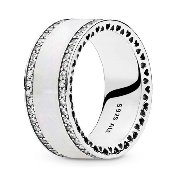 Пандора Широкое кольцо Сердца Pandora (52) 191024EN23