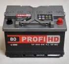 Автомобильный аккумулятор SADA PROFI HD 6СТ-80 Ач 12V 800 А R+ Украина, фото 2