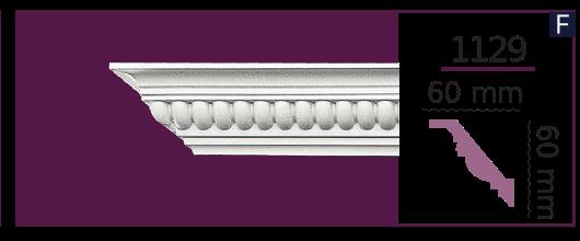 Карниз потолочный с орнаментом 1129 (2.44м) Home Decor, лепной декор из полиуретана