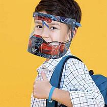 Детский защитный щиток для лица с откидным экраном