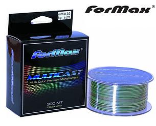 Леска монофильная ForMax Multicast 300м разноцветная, фото 2
