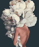 Картина по номерам Белые пионы, Эми Джадд, цветной холст, 40*50 см, без коробки Barvi