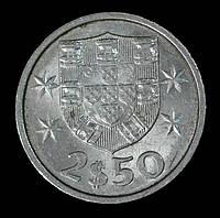 Монета Португалии 2,5 эскудо 1983 г., фото 1