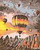 Картина за номерами Повітряні кулі, Кападоккия, кольоровий полотно на картоні, 40*50 см, без коробки Barvi