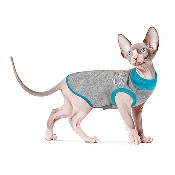Свитер BRUCE Pet Fashion для котов бирюзовый, S