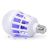 Антимоскитная лампа-светильник от комаров Zapp Light LED 15W Лампочка ловушка уничтожитель насекомых, фото 3