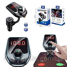 FM-трансмиттер автомобильный bluetooth модулятор  Car D5 2USB 2.1A
