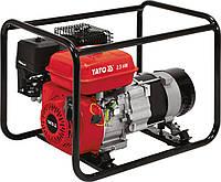 Генератор їв.струму бензиновий YATO: W=2.5 кВт, U=230 В, витрата - 0.6 л/р, бак - 3.6 л з блок.перенав.