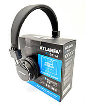 Беспроводные Bluetooth наушники Atlanfa AT-7611 Black c MP3 плеер, FM радио приемником и микрофоном