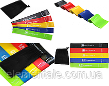 Набор резинок для фитнеса  U-Powex 5 шт | Фитнес резинки