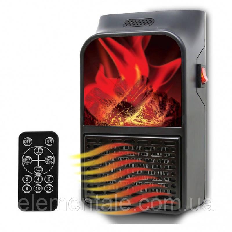 Портативный мини обогреватель Flame Heater 500 Вт с имитацией камина