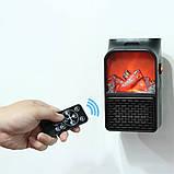 Портативный мини обогреватель Flame Heater 500 Вт с имитацией камина, фото 2