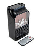 Портативный мини обогреватель Flame Heater 500 Вт с имитацией камина, фото 3