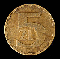 Монета Польши 5 злотых 1983 г., фото 1