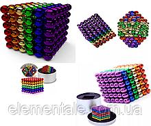 Магнитная игрушка Неокуб головоломка  Neocube 216 шариков 5 мм в боксе Разноцветная