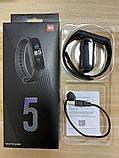 Фитнес браслет Smart Band M5 Black цветной дисплей измерение давления и пульса шагомер, фото 2