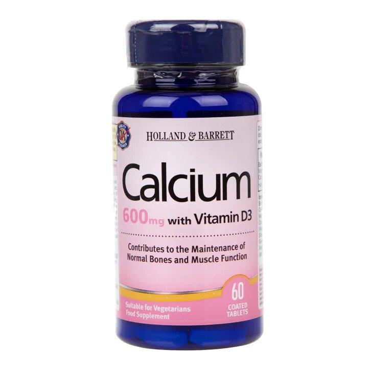Биологически активная добавка Holland & Barrett Calcium plus Vitamin D,60 шт.