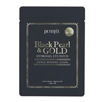 Пара гидрогелевых патч с черным жемчугом Petitfee Black Pearl &Gold Hydrogel Eye Patch