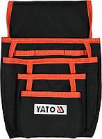 Сумка на пояс для инструментов и гвоздей YATO с карманами