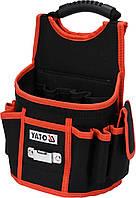 Сумка для инструментов и гвоздей YATO с 4 открытыми и 4 прошитыми карманами