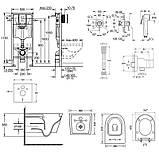 Комплект инсталляция Grohe Rapid SL 38827000 + унитаз с сиденьем Qtap Jay QT07335176W + набор для, фото 2