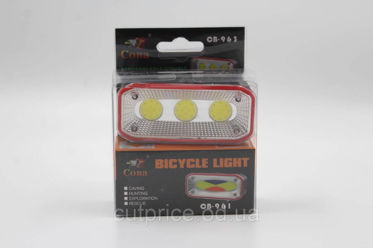 Велосипедний ліхтарик (BICYCLE) BL 963/961 CHARGE (240)