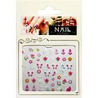 3D Наклейки для Ногтей Самоклеющиеся Nail Sticrer AL-B-12 Цветы, Бабочки, Звезды, Якоря, Ногти, Маникюр, фото 2