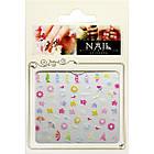 3D Наклейки для Ногтей Самоклеющиеся Nail Sticrer AL-B-23 Цветы, Кораблики, Солнышко, Лето Слайдер Дизайн, фото 2