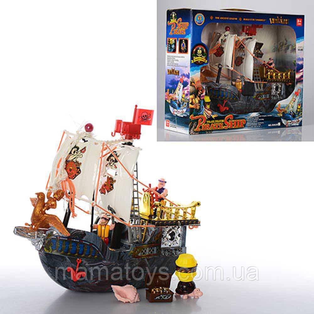 Игровой набор Корабль Пиратов 50828 D 31 см, фигурки, сундук. Пираты Черного моря