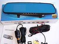 Зеркало видеоРегистратор лучший автоРегистратор відеоРеєстратор дзеркало автоМобильный с камерой заднего вида, фото 1